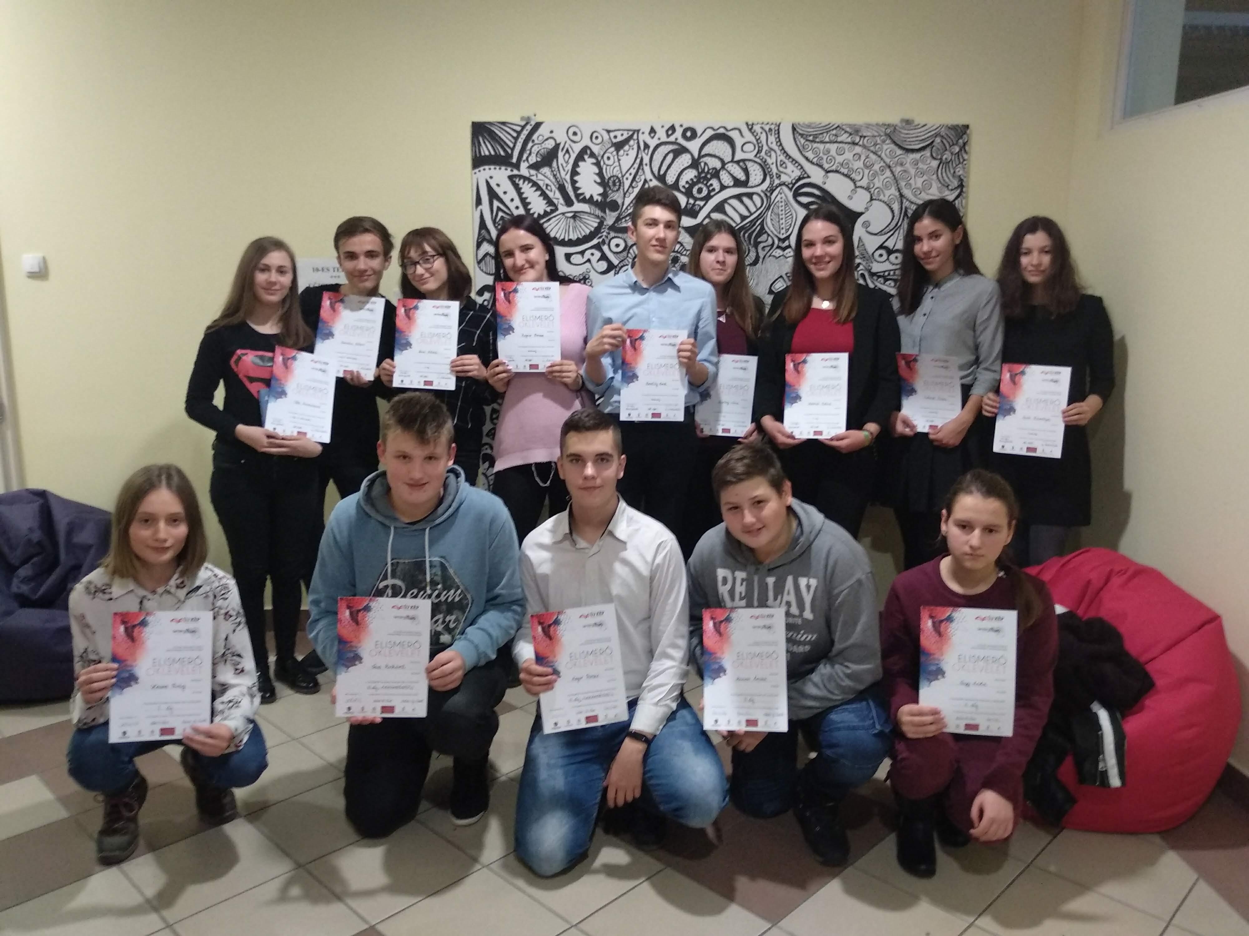 Megtartottuk a Tantárgyháló 2018/2019 verseny döntőjét